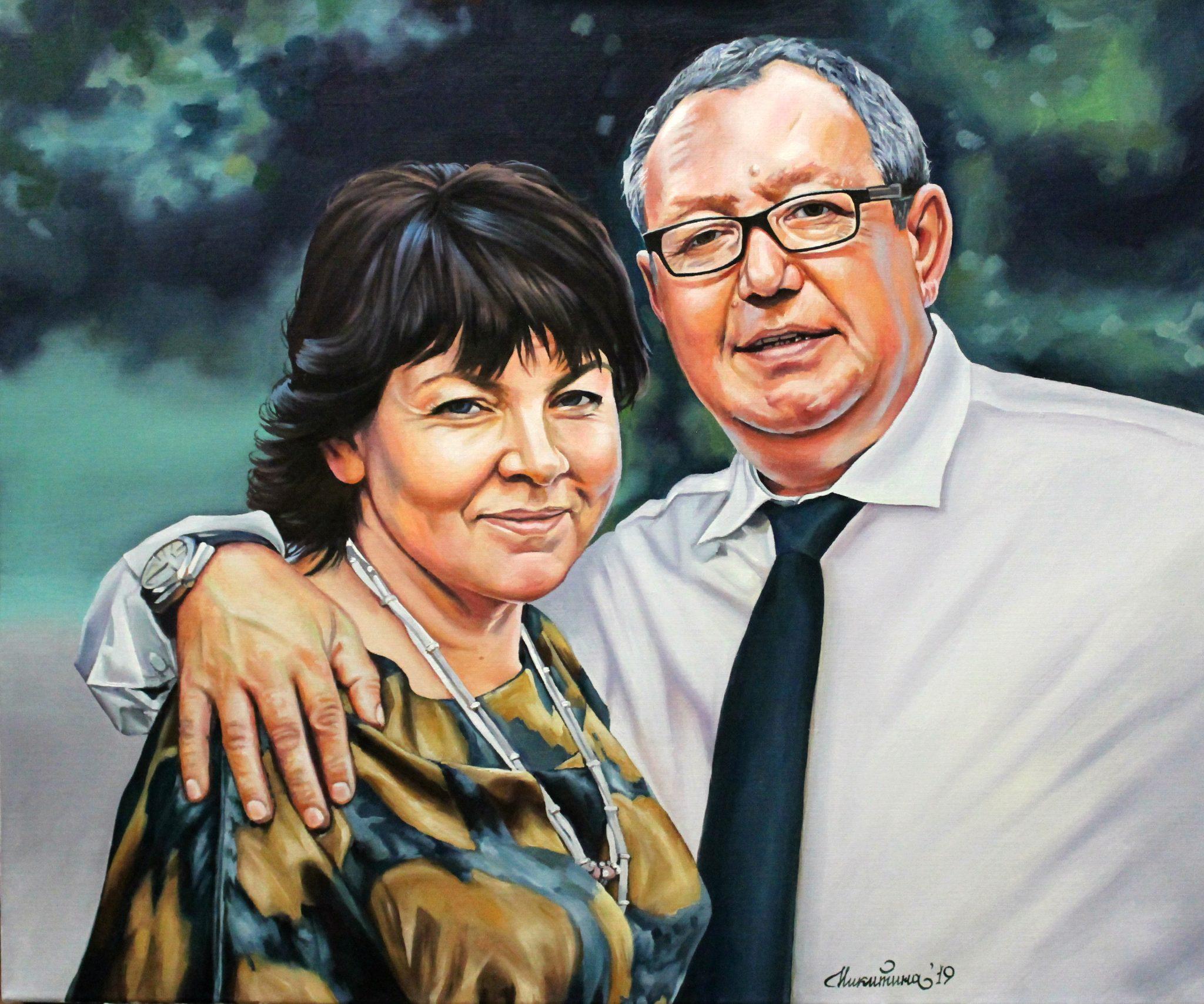 Семейный портрет, 2019г., Холст, масло 50х60 см